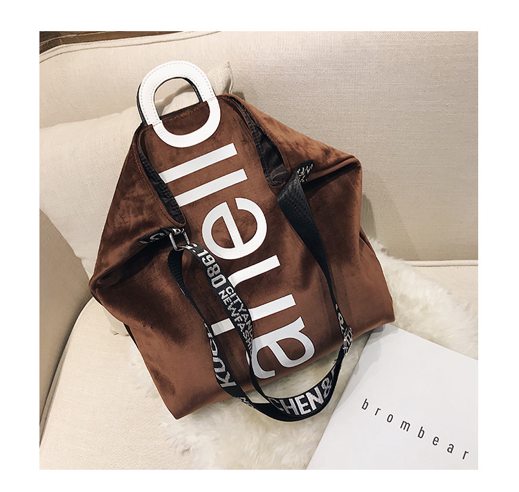 HTB1UGBRXxrvK1RjSszeq6yObFXaC - New Large-capacity Velvet Handbag Fashion Lady Letter Shoulder Crossbody Bag High Quality Women's Shopping Bag Tote
