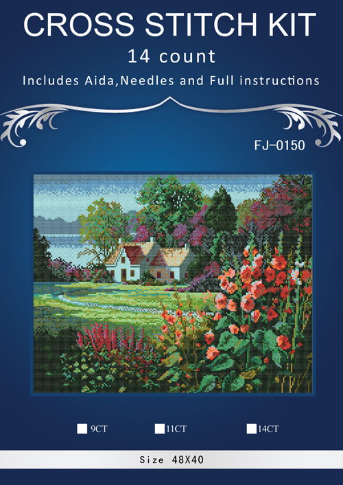 Flowers gardner Counted Cross Stitch 14CT similar dmc Cross Stitch Sets DIY Cross Stitch ...
