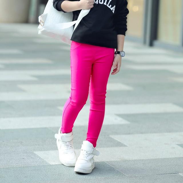 Niños Moda Niño Pantalones 2 Niñas Color Candy 11years Chica OmnwyN0v8P
