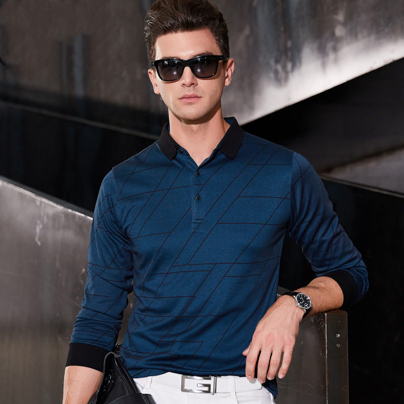 Fgkks Style Model Males Polo Shirt 2019 Autumn Males's Polo Shirt Enterprise Males Lengthy Sleeve Polo Shirt Polo Shirt Male Tee Prime
