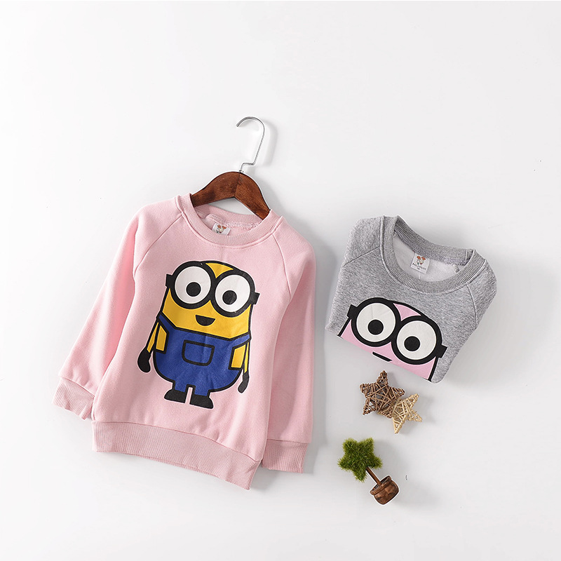 Kids long sleeved children cartoon printing sweater fashion pullovers for baby girl clothes autumn sweater girls boys 8 9 10 T