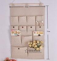 Cotton Linen Fabric Hanging Organizer 13 Pockets