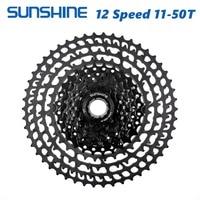 SUNSHINE MTB 12 Speed Cassette 11 50T UltraLight 399g CNC Freewheel Mountain Bike Bicycle Parts for XTR GX NX