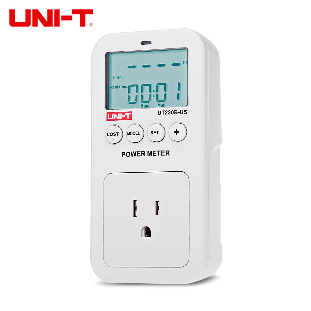 UNI - T UT230B - US Electricity Usage Monitor Power Meter US Plug with LCD Display
