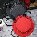 2016 шерстяной посланник творческий сумки милый шляпу женская ну вечеринку с бантом круглый кроссбоди сумки Bolsa Feminina Ombro