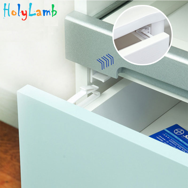 4Pcs/Lot Invisible Cabinet Lock Baby Safety Drawer Lock Latches Baby Security Protection From Children Drawer Safety Lock Child