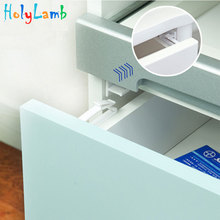 4Pcs/Lot Invisible Cabinet Lock Baby Safety Drawer Latches Security Protection From Children Child