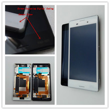 JIEYER 5.0For Sony Xperia M4 LCD Display Touch Screen Digitizer Assembly Frame E2303 E2333 E2353 For SONY M4 Aqua Lcd 4 6 white or black for sony xperia z3 mini compact d5803 d5833 lcd display touch digitizer screen assembly sticker
