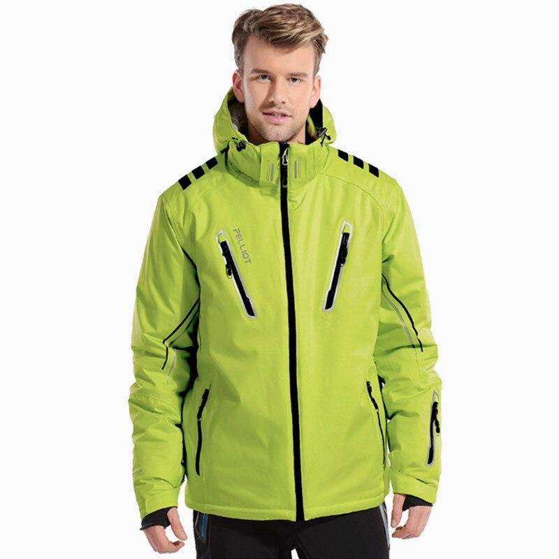 Pelliot veste de snowboard hiver Super chaud épaissi veste de ski neige hommes imperméable respirant extérieur ski vêtements