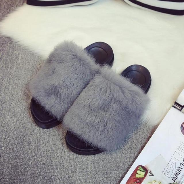 Меховые тапочки Европейский Американский известный бренд женщина флип-флоп дизайн женщина скользит тапочки меха флип-флоп леди обувь X003