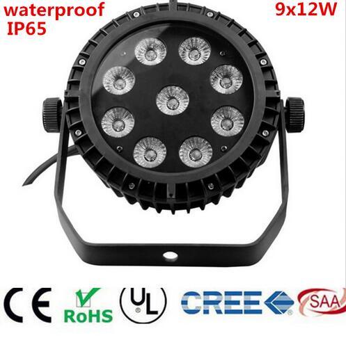 Waterproof Led Par 9X12W RGBW 9x15W RGBWA 9x18W RGBWA UV 6IN1 LED slim Par Can Stage Lighting IP65