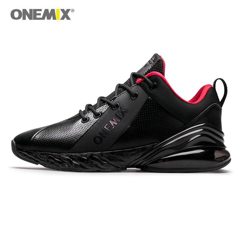 ONEMIX Winter Men's Athletic Shoe Autumn Walking Sport Outdoor Men Running Shoes Black Shock Absorption Cushion Jogging Sneakers