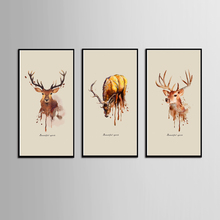 Hot Sales Without Framed 3 Panels Picture Elk series HD Canvas Print Painting Artwork Wall Art painting Wholesale