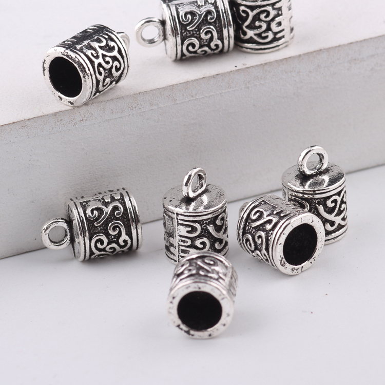 Sterling Silver Tube Bead Leather Cord End Caps Jewellery Making Many Sizes