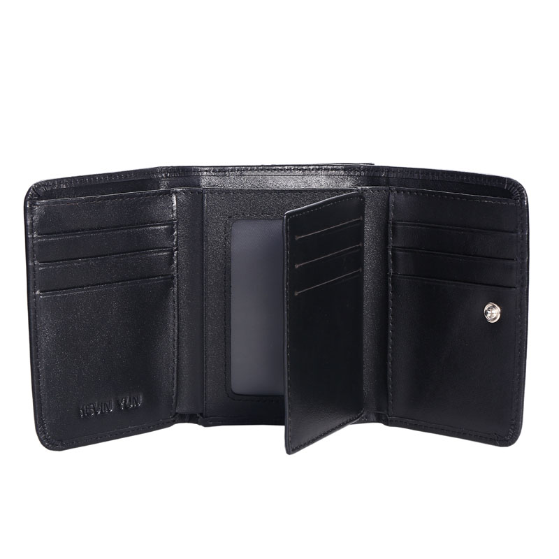 KEVIN YUN fashion genuine leather men wallets short design male trifold credit card holder wallet with coin pocket purse in Wallets from Luggage Bags