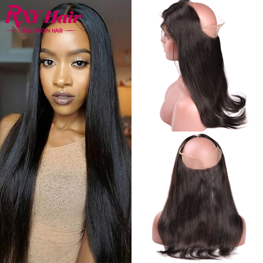 ФОТО Peruvian Straight 360 Lace Frontal Closure Top 7A 360 Lace Virgin Hair 360 Lace Frontal Human Hair Lace Frontals with Baby Hair