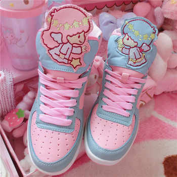 Anime Harajuku Cute Lolita Women's Little Twin Star High Top Shoes Casual - DISCOUNT ITEM  10% OFF All Category
