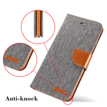 Fabric iPhone Flip Wallet Case