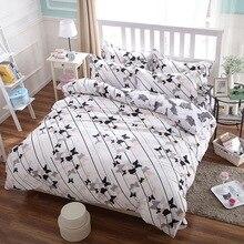 Одеяло комплекты бабочки из король, королева Детский Размер 4 шт. хлопка постельных принадлежностей постельное белье пододеяльник простыней наволочки