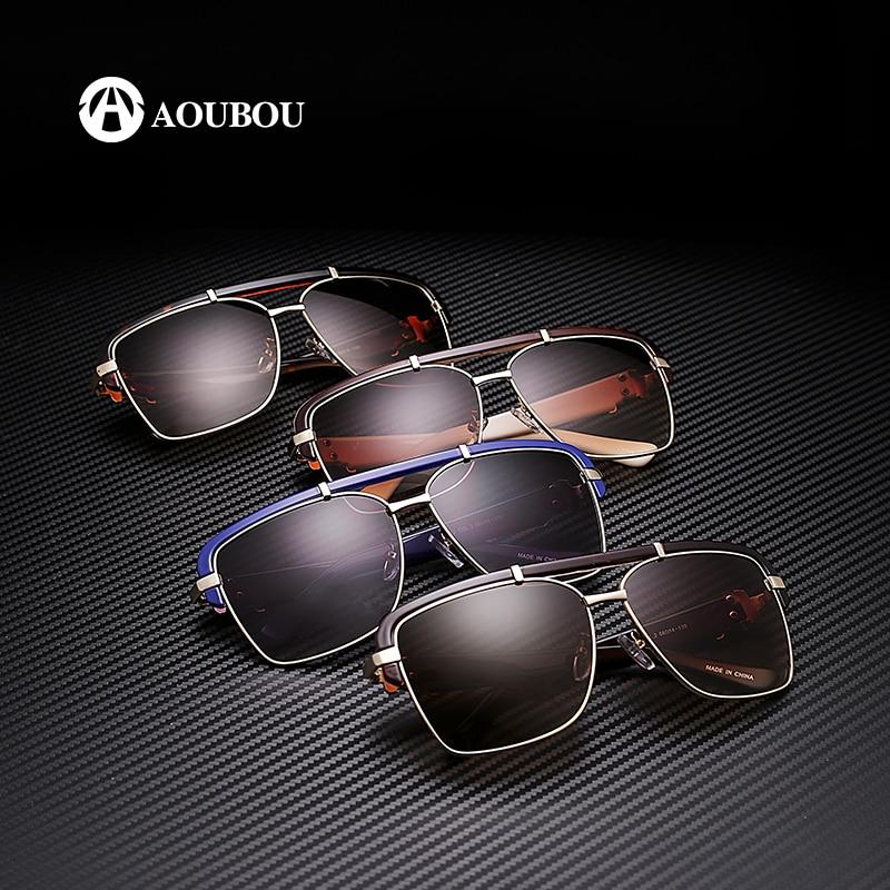 AOUBOU Brand Design Classic Logo Solbriller Mænd UV400 Drivende - Beklædningstilbehør - Foto 5