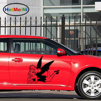 HotMeiNi 2 X Tinker Bell Cartoon Film Classic Beautiful Image Peter Pan Fairy Fantasy Car Stickers RV Door Vinyl Decal 9 Color