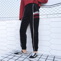 OL Autumn Winter Plus Down Trousers Casual Spliced 2017 New Motion Skinny Pants Harem Pants