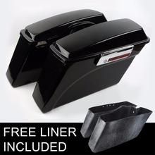 Motorcycle Saddlebag Glossy Hard Saddle bags For Harley Davidson Road King Glide Softail DYNA 1 Pair Supplier