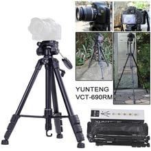YUNTENG 690 Portable Lightweight Camera Tripod Aluminum Alloy with Universal font b Smartphone b font Mount