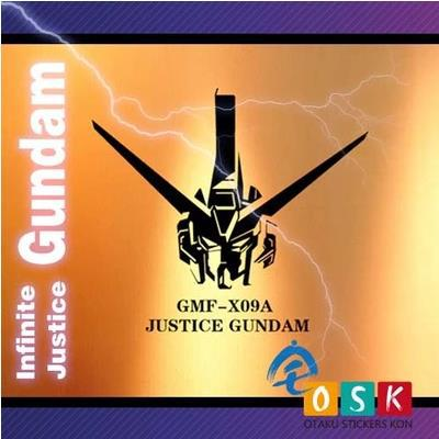 Pegatina Anime Cartoon Car Sticker SEED JUSTICE GUNDAM GMF-X09A Vinyl Wall Stickers Deca ...