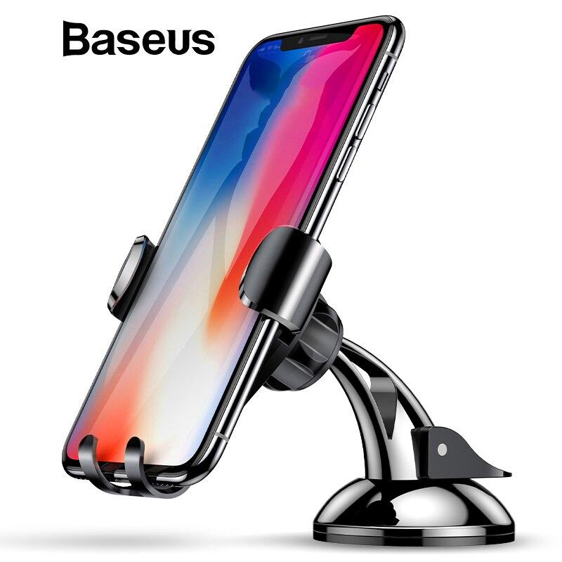 Baseus gravedad Car Holder Dashboard Sucker coche titular del teléfono soporte de succión teléfono móvil en el coche para iPhone X 8 7 Samsung S9