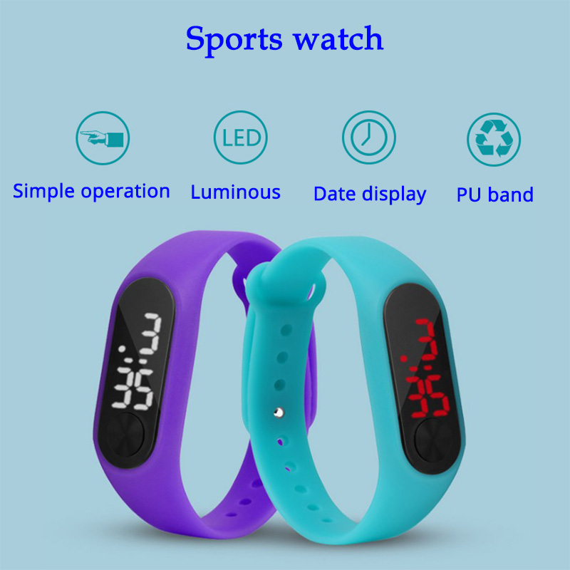Led Sport Children Watch Men Women PU Bracelet Kids Watches Electronic Wristwatch For Boys And Girls Digital Clock Reloj Nino children watch color screen insert card call illumination kids watches men women positioning touch clock boys girls reloj nino