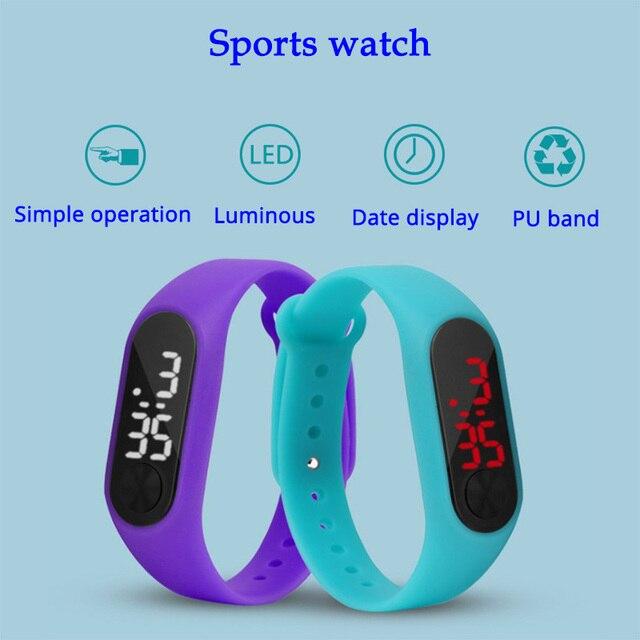 Led Sport Children Watch Men Women PU Bracelet Kids Watches Electronic Wristwatc