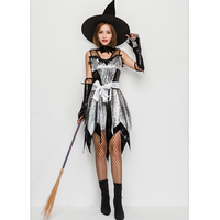 SESERIA Halloween Witch Costumes Christmas Carnival Clothing Adult Fairy Costume Cosplay Party Dress