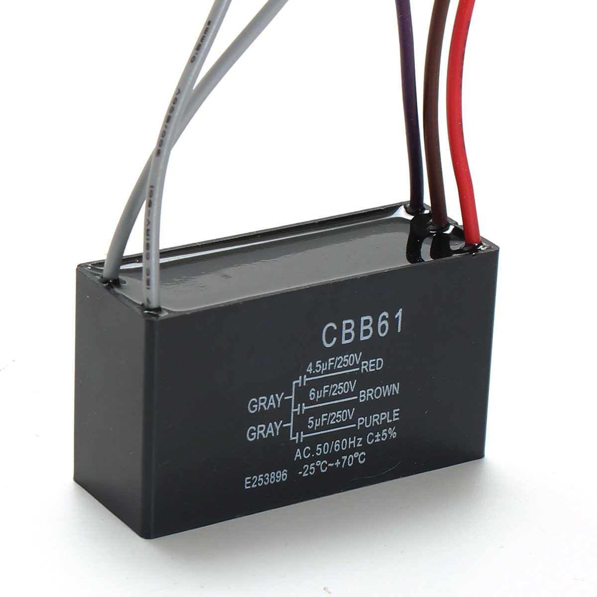 Black cbb61 45uf6uf5uf 5 wires ac 250v 5060hz for ceiling fan black cbb61 45uf6uf5uf 5 wires ac 250v 5060hz for ceiling fan capacitor in capacitors from electronic components supplies on aliexpress alibaba mozeypictures Image collections