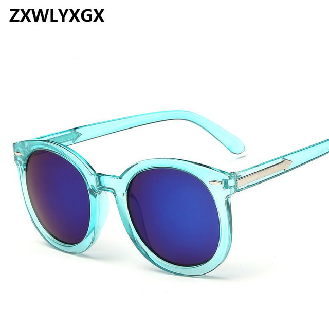 f50a272169d6e 2018 Nova Mulheres Adulto Espelho Nail Fashion Hot Estilo Caixa de Óculos  De Sol Das Mulheres