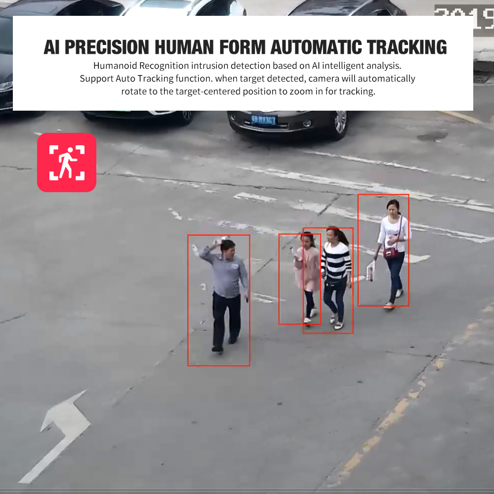 1080P AI автоматическое отслеживание PTZ IP камера POE 30X зум AI человеческое тело лицо Масштабирование Программирование пресеты Patrolling PTZ камера наружная