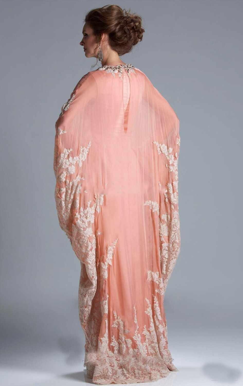 d7cbec134e90c 2018 Latest Design Long Fashion Coral robe de soiree Elegant Evening party  gown Dubai Arabic Style mother of the bride dresses