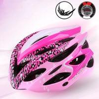 Cherry Bike Helmet Women Casco Ciclismo Cycling Helmet With Light MTB Bicycle Helmet Capacete Ciclismo Ultralight