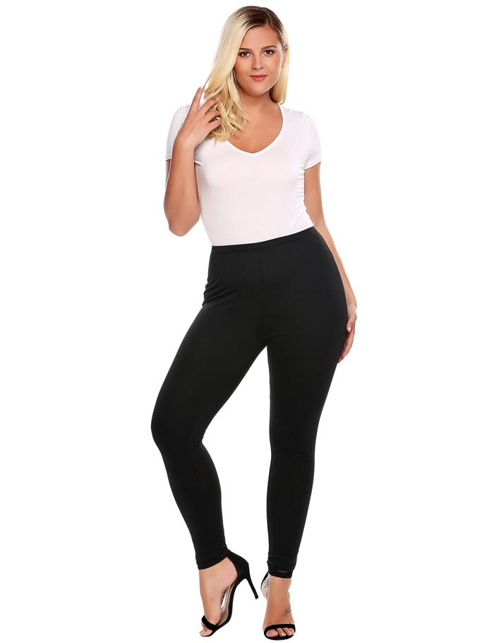 Plus Sized Women's Leggings - Blue, Brown, Black - L, XL, XXL, XXXL, 4XL - image HTB1UGEbSpXXXXcyaXXXq6xXFXXXD on https://awesomeleggingstore.com