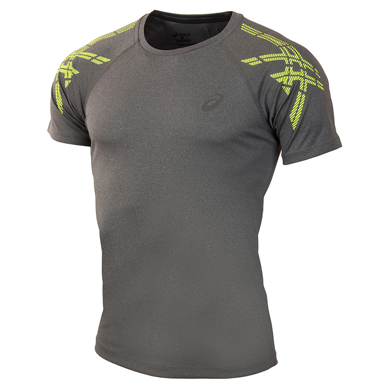Male T-Shirt ASICS 141199-0773 sports and entertainment for men sport clothes available from 10 11 asics running t shirt 141240 1107