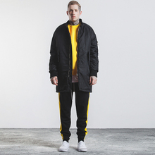 2018 Autumn and Winter Warm Street Wear Thicker Mens Pocket Jacket Down Overcoats Male Pilots Long Parka Men's Clothing C1309