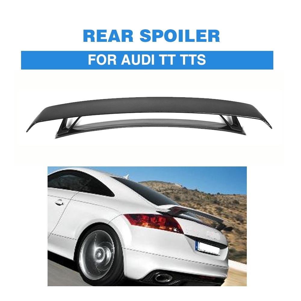 Углеродного волокна/FRP черный задний багажник загрузки двухэтажные спойлер Wing для Audi TT MK2 8J TTS купе 2 двери 2008-2014 стайлинга автомобилей