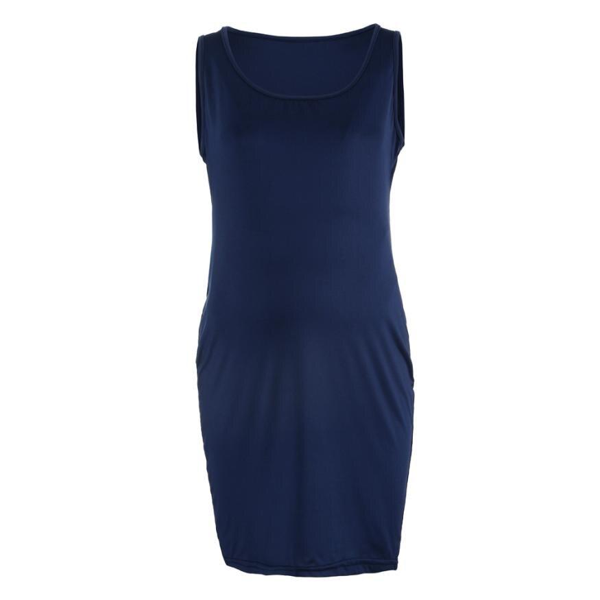 BMF TELOTUNY Fashion New Maternity Clothings Fashion Womens Pregnants O-Neck Sleeveless Nursing Maternity Solid Vest Dress Jun27