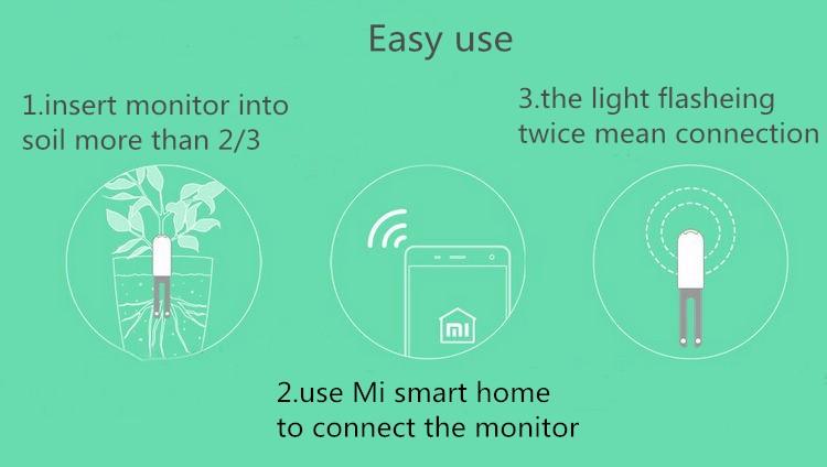 International version xiaomi mi flora monitora czujnik światła inteligentny tester cyfrowy kwiat trawy opieki gleby wody dla roślin ogrodowych 6