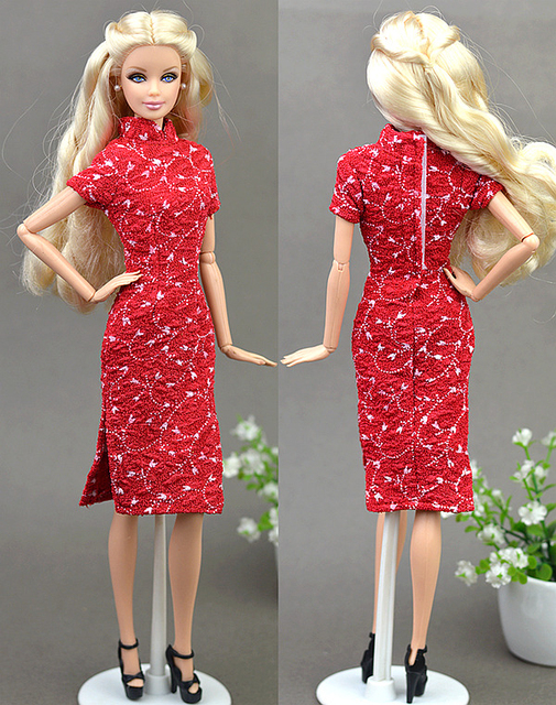 ... Doll Accessories Handmade Unique Dress Clothes For Barbie Chinese  Traditional Dress Cheongsam Qipao Evening Dresses. Previous. Next 120452809ee1