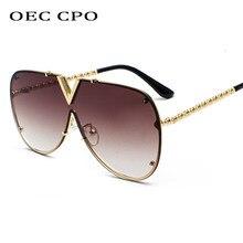 Gafas De Sol De gran tamaño para hombre y mujer, lentes De Sol a la moda, De diseñador De marca, UV400 O2