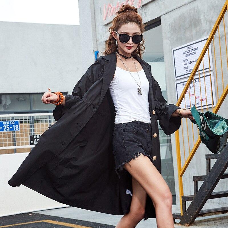 2018 Femmes Winderbreaker Élégant Manteaux Manches Flare Des Noir Manteau Kimono Punk Ceintures Kaki Tranchée Lt518s50 Automne Nouvelles kaki Avec Slim dXwOwqC