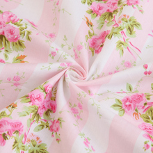 Blume 100% baumwoll-twill tuch stoff kunst kleidung tissus patchwork diy bettwäsche quilten handarbeit kleid tela tuch