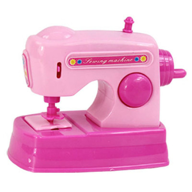 Mini Sewing Machine Toy Mini Home Electrical Appliances Toy Children House  Pretend Play Kitchen Toys Pink