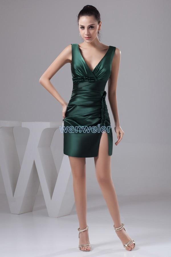 free shipping 2018 new design kim kardashian hot sale v-neck custom size/color luxury real photo short   bridesmaid     dresses